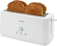 Cookworks Long Slot 4 Slice Toaster - White