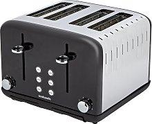 Cookworks Pyramid 4 Slice Toaster - Black