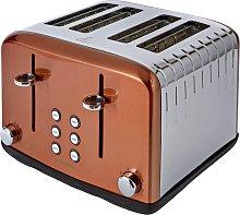 Cookworks Pyramid 4 Slice Toaster - Copper