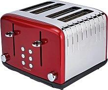 Cookworks Pyramid 4 Slice Toaster - Red