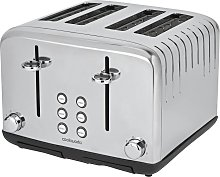 Cookworks Pyramid 4 Slice Toaster - Stainless Steel