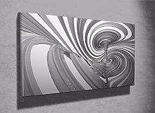 Cool 3D optical illusion swirl tornado framed