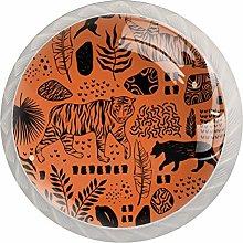 Cool Animal 4PCS Drawer Knobs,Cabinet Knobs,Drawer