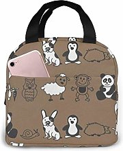 Cool Animals Lunch Bag Reusable Lunch Box Lunch