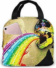 Cool Background Skull Colorful Reusable Insulated