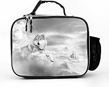 Cool Bag Animals Castle Clouds Wolf Lunch Box Bag