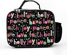Cool Bag Christmas Faith Hope Love Letters Words