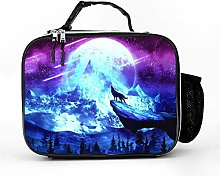 Cool Bag Fantasy Galaxy Moon Wolf Lunch Bag Lunch