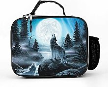 Cool Bag Forest River Wolf Moon Lunch Box Bag