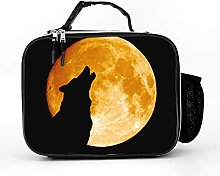 Cool Bag Howling Moon Wolf Lunch Box Bag Lunch Bag