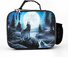 Cool Bag Landscape Howling Wolf Moon Lunch Box Bag