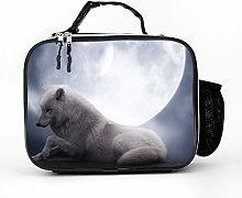 Cool Bag White Wolf Moon Lunch Box Bag Picnic Bag