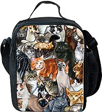 Cool Cat Animal Insulated Lunch Bag Small Kids