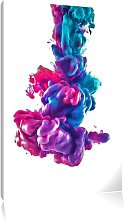 Cool Colourful Smoke Art Print on Canvas East