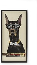 Cool Dog Framed Graphic Art Print in Black KARE