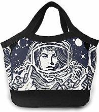 Cool Female Space Astronaut Icon Women Portable