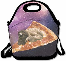 Cool Galaxy Sloth Pizza Lunch Bag Lunch Tote Lunch