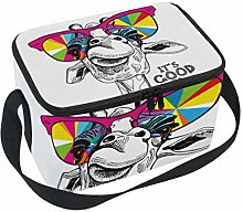 Cool Giraffe Lunch Box Insulated Lunch Bag Large