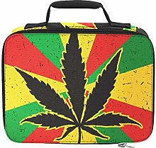 Cool Green Cannabis Leaf Icon Lunch Bags Cooler
