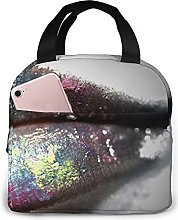 Cool Lips Painting Art Lunch Box Bags Food Storage