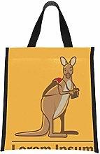 Cool Lunchbag Brown Carton Kangaroo is Running Fun