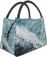 Cool Ocean Waves Lunch Bags for Women Insulation