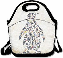 Cool Penguin Lunch Bag Lunch Tote Lunch Box