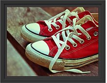 Cool Red Shoes Framed Graphic Art Print East Urban