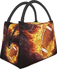 Cool Rugby Print Insulated Lunch Box Cooler Tote