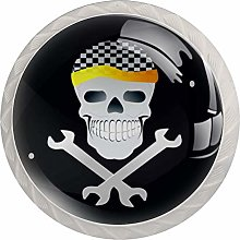 Cool Skull 4PCS Drawer Knobs,Cabinet Knobs,Drawer