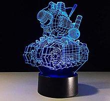 Cool Tank 3D Night Light Multi-Color LED Desk lamp