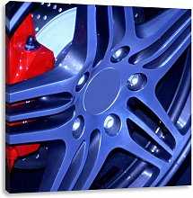 Cool Tuner Rims Art Print on Canvas East Urban Home