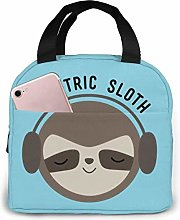 Cooler Bag, Electric Sloth Portable Lunch Handbag