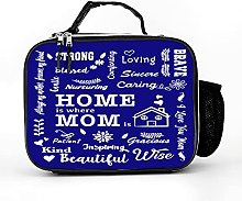Cooler Bag Home Is Where Mum Is Letters Words Mum