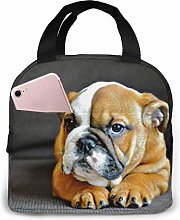 Cooler Bag, Orange Shar Pei Portable Lunch Handbag