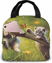 Cooler Bag, Playing Little Cat Portable Lunch