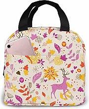 Cooler Bag, Purple Deer Portable Lunch Handbag