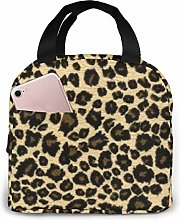 Cooler Bag, Yellow Leopard Print Portable Lunch
