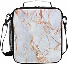 Cooler Lunch Box Rose Gold Marble Insulated Lunch