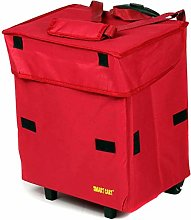 Cooler Smart Cart, Red Insulated Collapsible