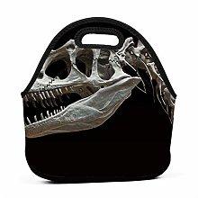 Cooler Tote Box,Dinosaur Bones Lunch Box Portable