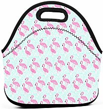 Cooler Tote Box,Pink Flamingos Cool Lunch Tote Bag