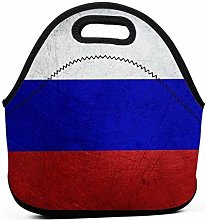 Cooler Tote Box,Russian Flag Lunch Tote Box Cool