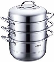 COOLSHOPY 304 Stainless Steel Three-Layer Double