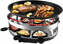 COOLSHOPY Raclette Grill Smokeless Indoor BBQ