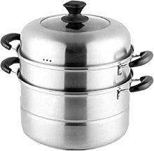 COOLSHOPY Steamer Pot, Home Kitchen 3-Layer