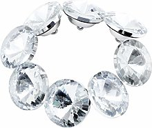Coolty 60PCS Rhinestone Crystal Buttons, Clear