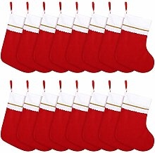 Cooraby 24 Pack Red Felt Christmas Stockings 15