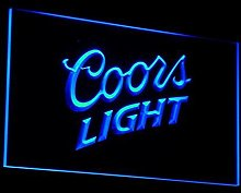 Coors Lite LED Neon Light Sign Man Cave A012-B