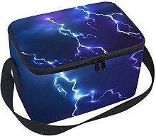COOSUN Dark Sky Blue Lightning Insulated Lunch Box